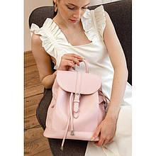 Шкіряний жіночий рюкзак Олсен рожевий