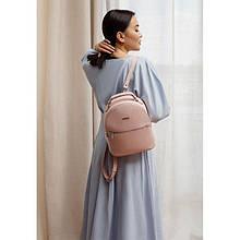 Шкіряний жіночий міні-рюкзак Kylie рожевий
