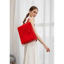 Жіночий шкіряний червоний рюкзак Blackwood