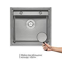 Кухонная мойка Qtap D5249 3.0/1.2 мм Satin (QTD52493012), фото 3