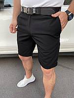 Шорты брючные мужские чёрные  классические брендовые премиум копия реплика