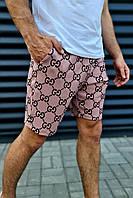 Шорты G тканевые мужские с принтом GG цветные брендовые премиум копия реплика