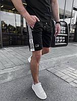Шорты ADIDAS спортивные мужские чёрные брендовые премиум копия реплика