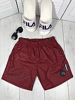 Шорты PHILIPP PLEIN плавательные плащевка мужские спортивные красные брендовые премиум копия реплика