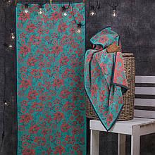 Рушник махровий ТМ Речицький текстиль 67*150 см Квіти