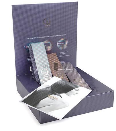 Estel Набор для процедуры экранирования поврежденных волос Q3 THERAPY