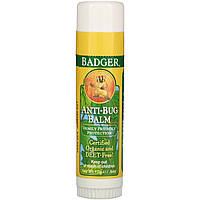Badger Company, Anti-Bug Balm, репеллент .60 oz (17 g) Бальзам-карандаш для защиты от насекомых для детей