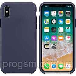 Чохол Silicone Case для iPhone X, iPhone XS OR Midnight Blue