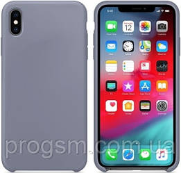 Чохол Silicone Case для iPhone X, iPhone XS OR Lavender Gray