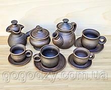 Кавово-чайний гончарний набір на дві особи