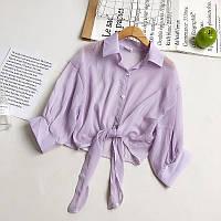 Шифонова укорочена сорочка на зав'язках