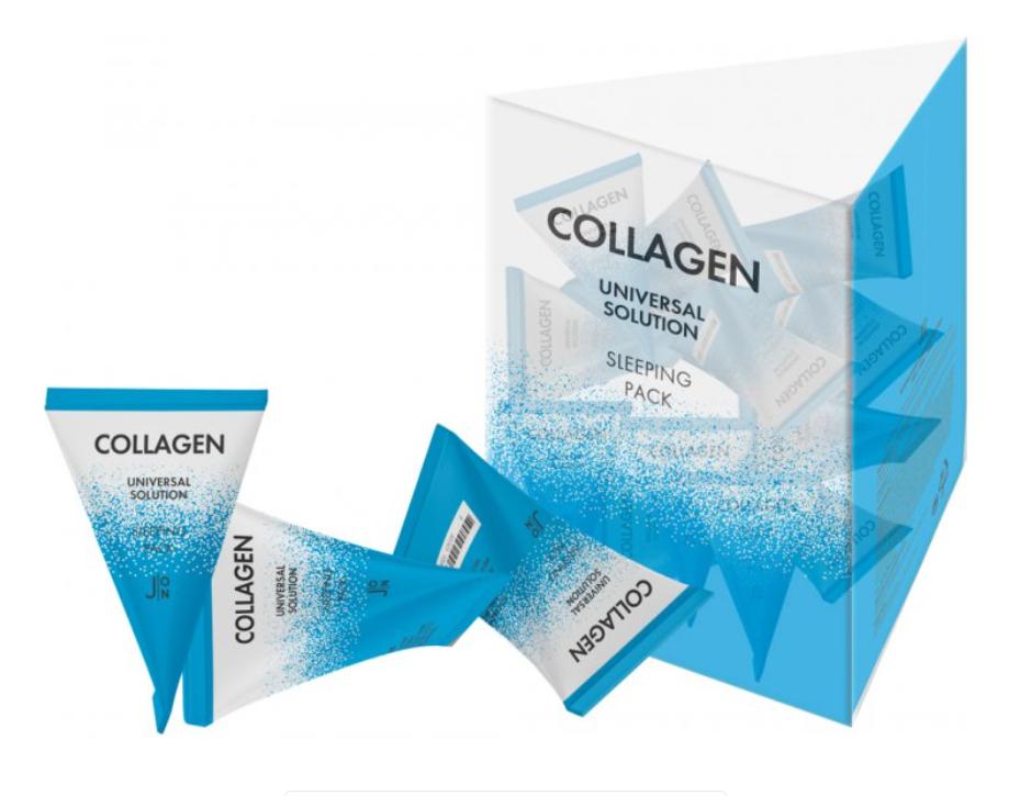 Ночная маска с коллагеном J:ON Collagen Universal Solution Sleeping Pack, 5 g