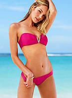 Яркий сексуальный красивый молодежный раздельный женский купальник бандо, пляжная одежда