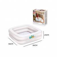 Маленький детский надувной  бассейн  с мягким дном Bestway  51116