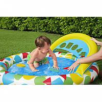 Бассейн для малышей надувной круглый 120-117-46см Bestway  52378