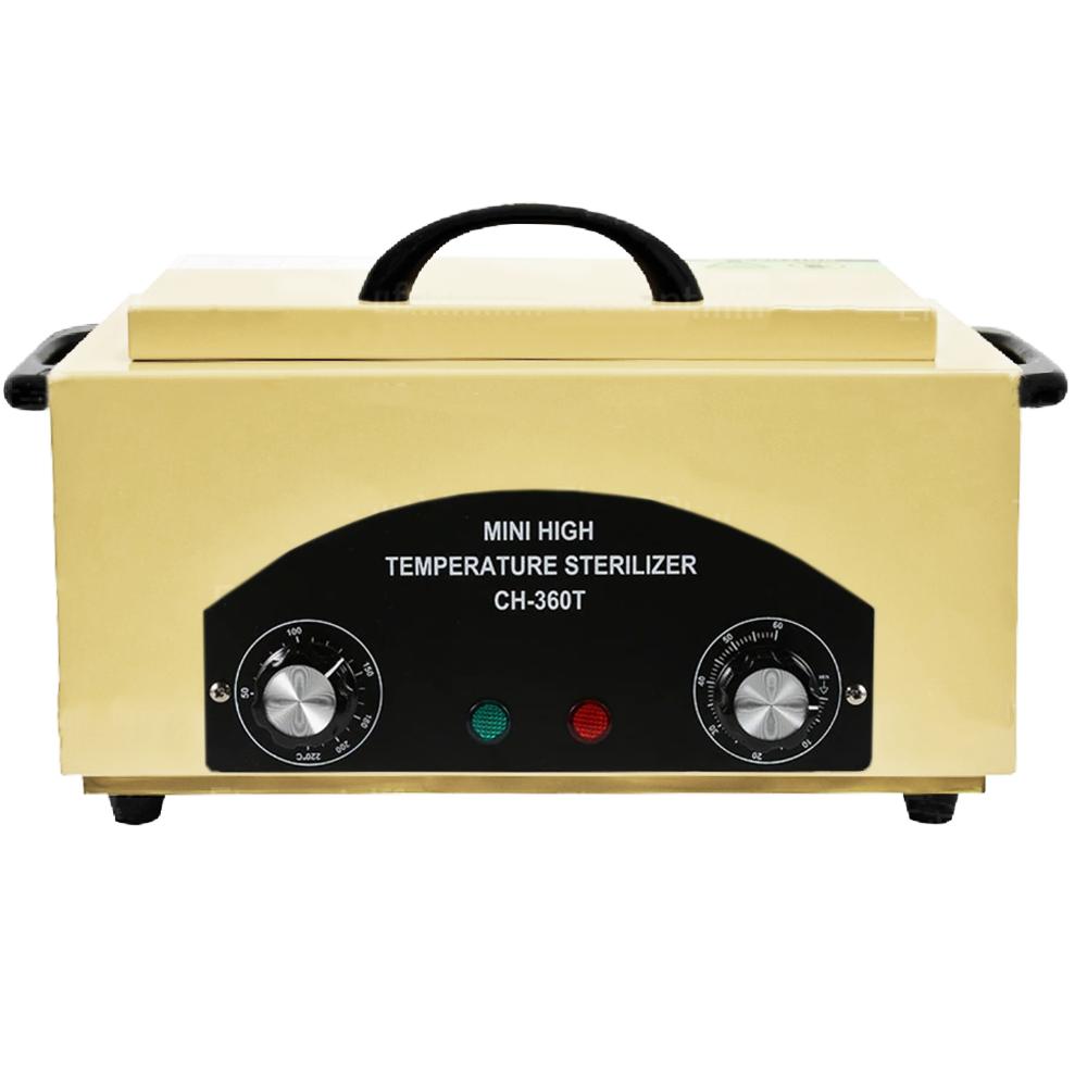 Стерилизатор сухожаровой шкаф CH-360T для косметологических инструментов, молочный