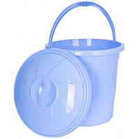Відро з кришкою Violet House 20 л 34х34х32 см Blue (0046 №5 BLUE з/кр. 20 л)
