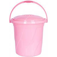 Відро з кришкою Violet House 20 л 34х34х32 см Pink (0046 №5 PINK з/кр. 20 л)