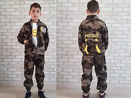 Костюм спортивный детский для мальчиков  #81003 army green. р-р 110-150. Цвет хаки