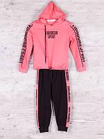 Костюм спортивный детский для девочек  #88062 pink. р-р 116-140. Цвет розовый