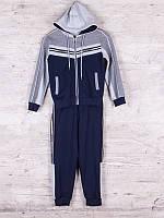 Костюм спортивный детский для мальчиков  #87743 navy. р-р 116-140. Цвет синий