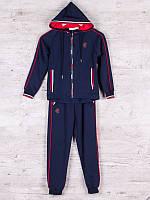Костюм спортивный детский для мальчиков  #86885 navy. р-р 128-152. Цвет синий