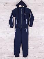 Костюм спортивный детский для мальчиков  #86716 navy. р-р 128-152. Цвет синий