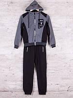 Костюм спортивный детский для мальчиков  #85903 grey. р-р 146-170. Цвет серый