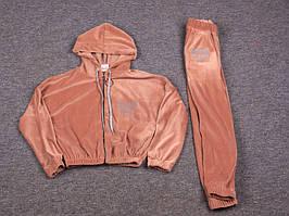 Костюм спортивный детский для девочек  #K03 beige (134-158). р-р 134-158. Цвет бежевый