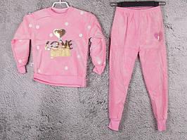 Костюм спортивный детский для девочек  #3-2 l.pink. р-р 75-90. Цвет розовый
