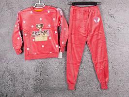 Костюм спортивный детский для девочек  #3-2 d.pink. р-р 75-90. Цвет розовый