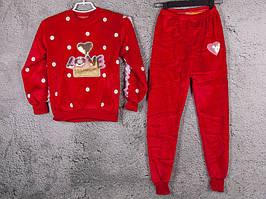 Костюм спортивный детский для девочек  #3-2 red. р-р 75-90. Цвет красный