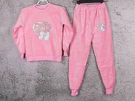 Костюм спортивный детский для девочек  #3-7 l.pink. р-р 75-90. Цвет розовый