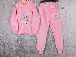 Костюм спортивний дитячий для дівчаток #3-13 l.pink. р-р 75-90. Колір рожевий