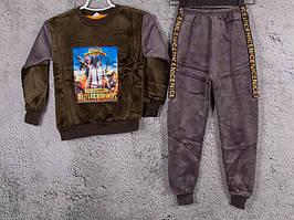 Костюм спортивний дитячий для хлопчиків #3C grey. р-р 75-90. Колір сірий