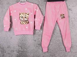 Костюм спортивний дитячий для дівчаток #3-6 l.pink. р-р 75-90. Колір рожевий