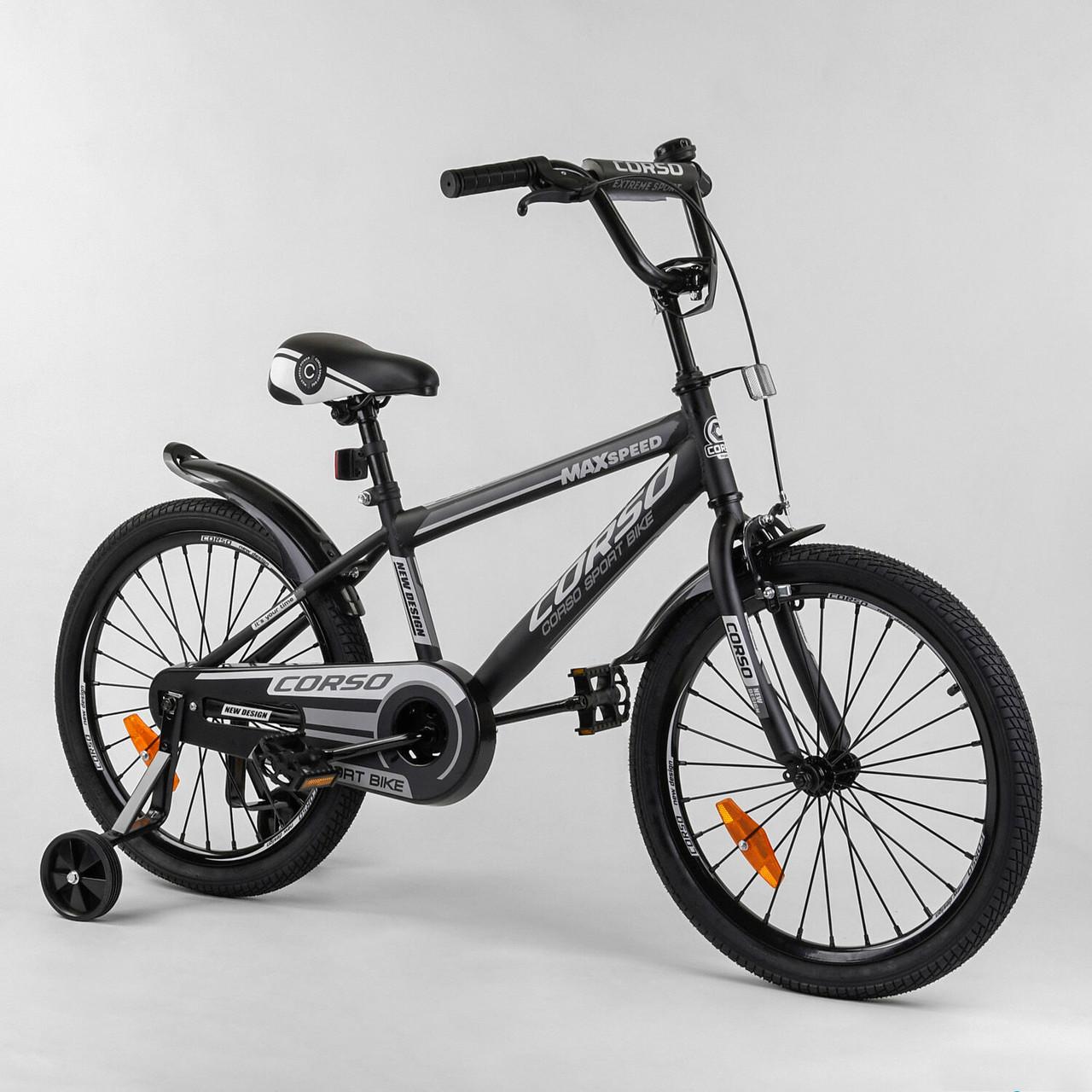 Велосипед дитячий для хлопчика дівчинки 7 8 9 років колеса 20 дюймів Corso ST-20363