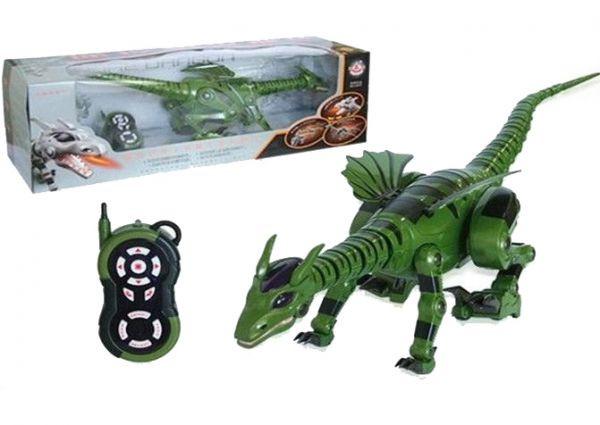 Динозавр на радиоуправлении Игрушечный динозавр на пульте управления Игрушка для ребенка радиоуправляемая