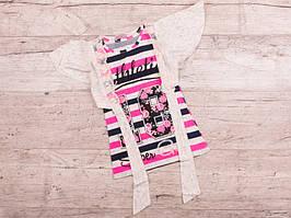 Костюм детский летний для девочек  #K265 2-йка pink. р-р 3-7. Цвет розовый