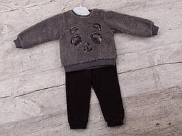 Костюм спортивний дитячий для дівчаток #K43 grey. р-р 0.9-1. Колір сірий