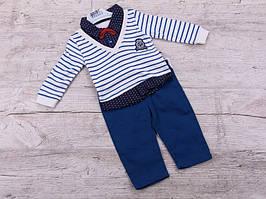 Костюм спортивний дитячий для хлопчиків #K122 blue. р-р 0.6-1. Колір синій