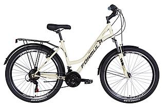 """Велосипед міський жіночий 26"""" Formula Omega AM Vbr 2021 рама 18"""" бежевий"""
