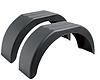Крыло для легкового прицепа DOMAR, B=200мм*770мм*330мм, пластик.