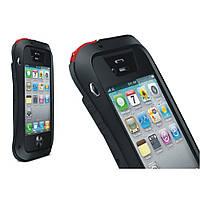 Чехол противоударный Love Mei Gorilla Glass для Apple iPhone 4 4S черный