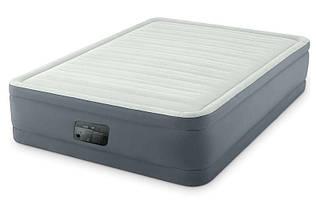 Двуспальная надувная матрас-кровать Intex 64906 со встроенным насосом