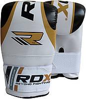 Снарядные перчатки, битки RDX Gold.  Белый, золотой