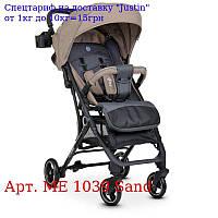 Коляска детская ME +1039 IDEA Sand прогулочная,  книжка,  колеса 4шт,  чехол,  бежевый