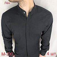 """Сорочка чоловіча GRAND MAN кнопка прихована,льон,(3ол.)р-ри M-2XL """"EMRE"""" недорого від прямого постачальника"""