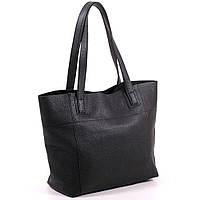 Большая кожаная черна сумка