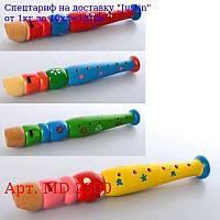 Дерев'яна іграшка Дудка MD 2300 4цвета,  в кульку,  20-3-3см